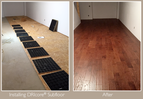 Installing DRIcore subflooring is a great way to insulate and cushion your floors