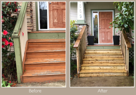 Beautifully refreshed exterior stairs