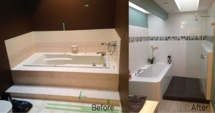 bathroom reno before and after