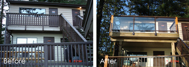 Deck Remodeler Surrey - Before and After