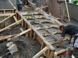 Concrete Installer Surrey - Front Walkway