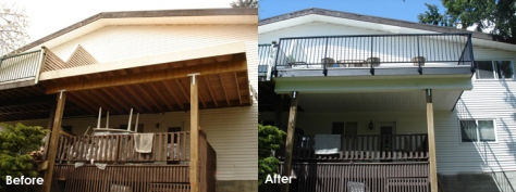 Deck Construction Before and After Surrey BC