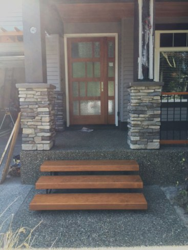 New front entry stairs