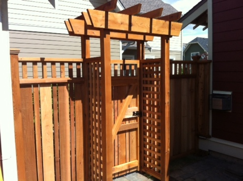 fence gate with trellis