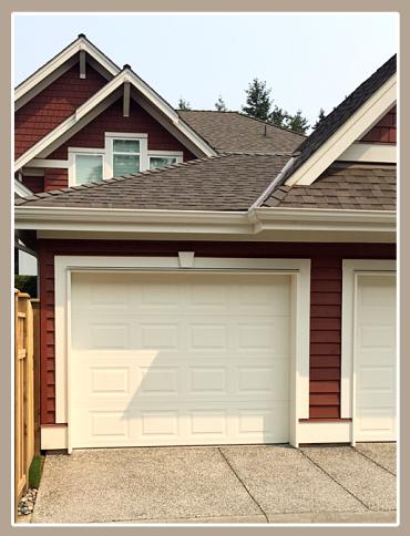 Seamless single-car garage addition.